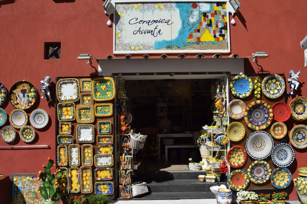 Ceramic shops Amalfi Coast