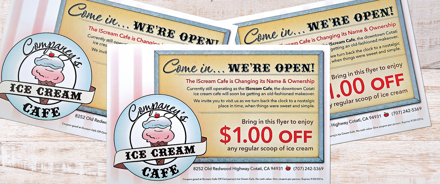 Ice Cream Cafe postcards