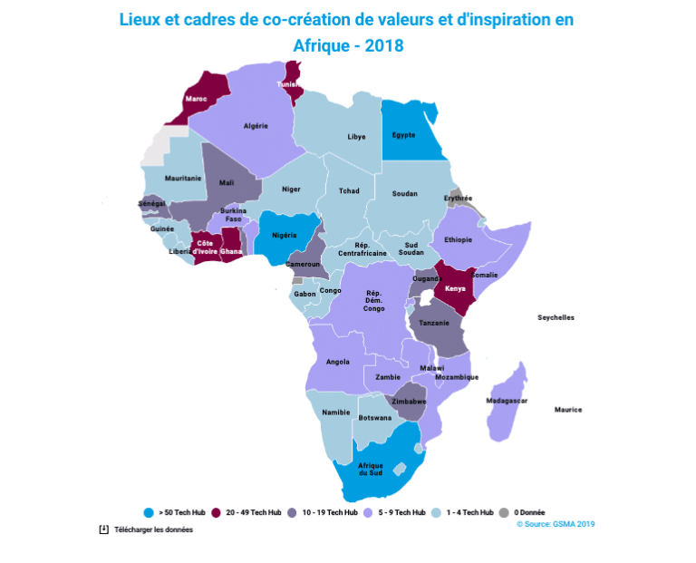 Carte open innovation Afrique