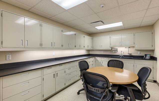 metal lab workspace