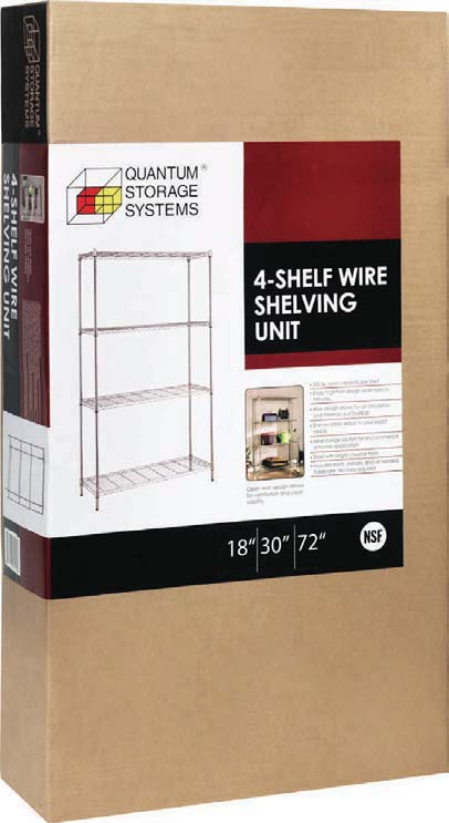 Wire Lab Shelving inside a box