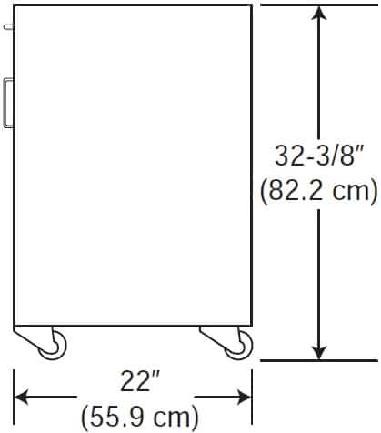 Patriot Table Cabinet Dimensions Drawing 32 in tall