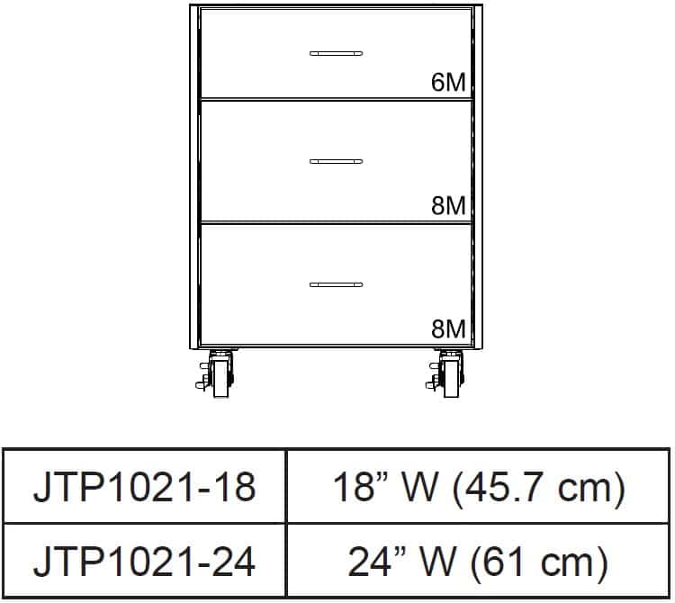Table drawer Cabinets front view and size chart 32 tall