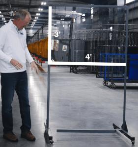 Half Length Lab Tech Separation Panels Size