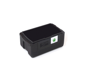 commercial grow accessories: black cannabis totes
