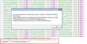 Figure 3 - malware exploiting Microsoft Powershell