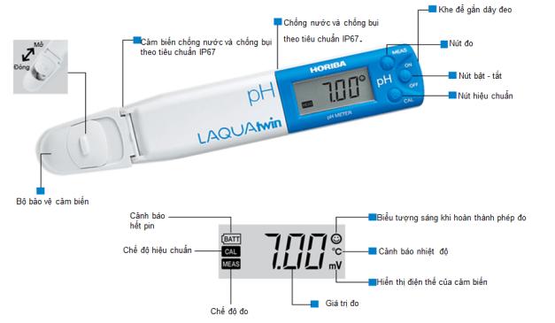 Cấu tại chi tiết bút đo pH Nhật Bản