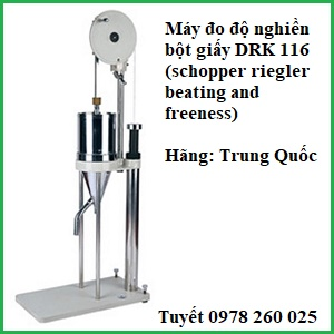 máy đo độ nghiền bột giấy DRK 116