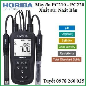 Máy đo PC210 - PC220 đo: pH, ORP, EC, TDS, độ mặn, nhiệt độ