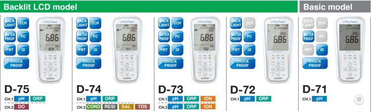 Máy đo pH cầm tay Horiba - Nhật Bản