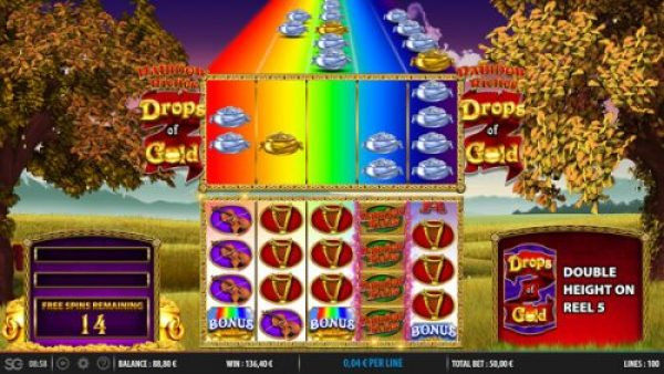 Drops of Gold Free Spins Bonus Feature