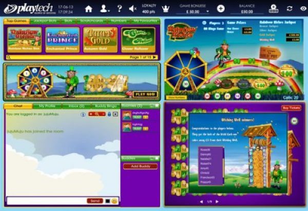 be social with fellow rainbow riches binog players