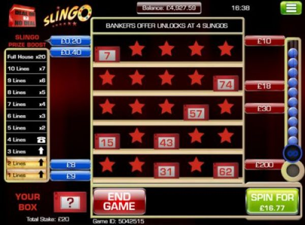 How to win big in Deal or no Deal Slingo?