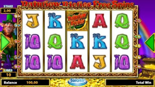 new slot in 2017: rainbow riches free spins