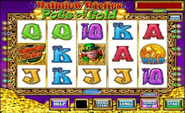 The medium variance slot Rainbow Riches Pots of Gold