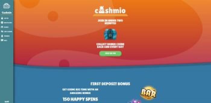 Cashmio Casino UK Welcome Offer