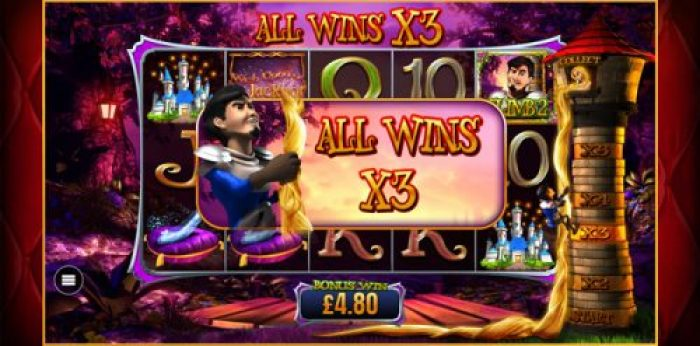 Rapunzel Free Spins in Wish Upon a Jackpot Slot