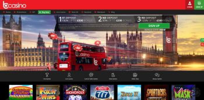 bCasino UK Homepage