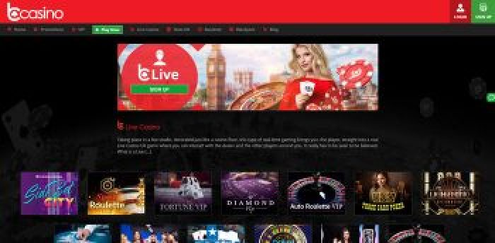 live casino games at bCasino