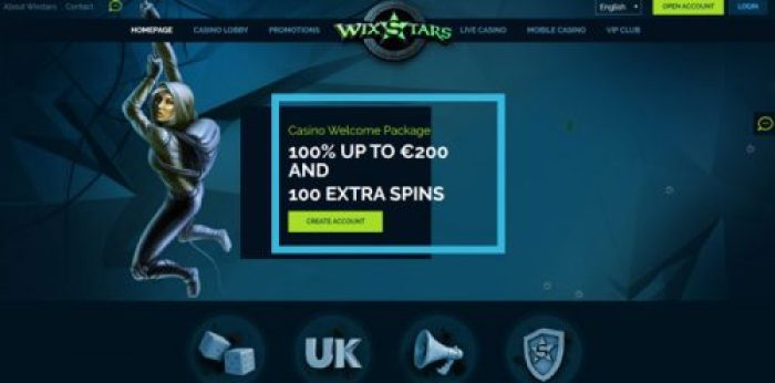 Claim yourself a welcome bonus at WixStars Casino!