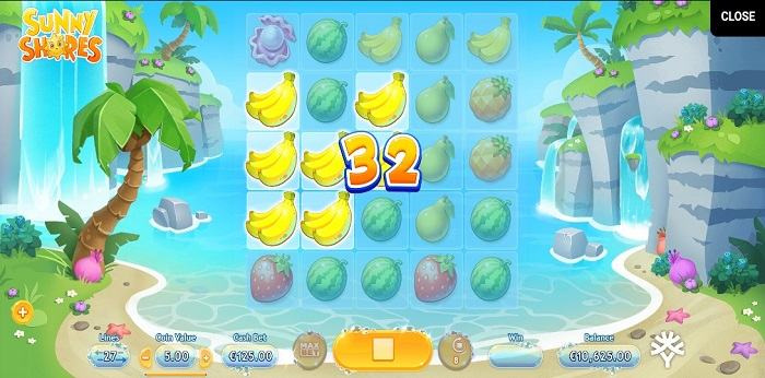 Sunny Shores online slot game win