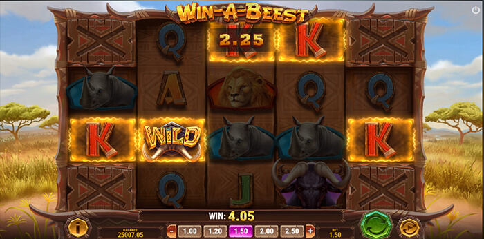 Win a Beest online slot game screen