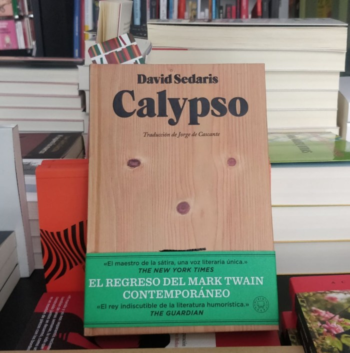 Calypso, de David Sedaris. Blackie Books