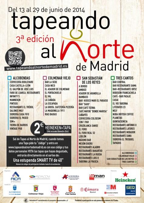 3ª Edición Tapeando al Norte de Madrid