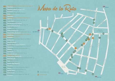 Mapa de Tapeo por Madrid y Ruta de Cócteles