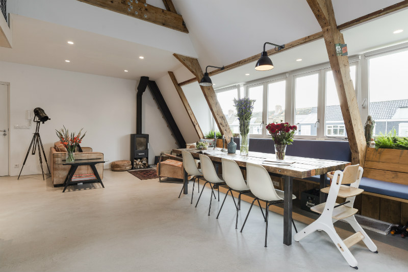 2 - Loft industrial en Amsterdam - comedor