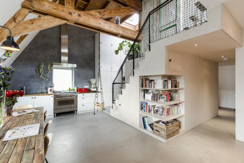 4 - Loft industrial en Amsterdam - cocina