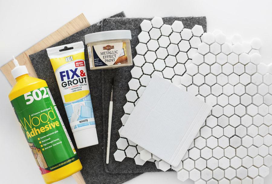 6 - DIY posavasos salvamantel azulejos - materiales
