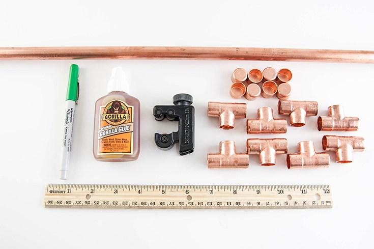 3 - soporte de cobre macetas - materiales