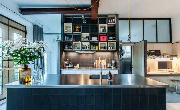 6 - loft industrial color - cocina