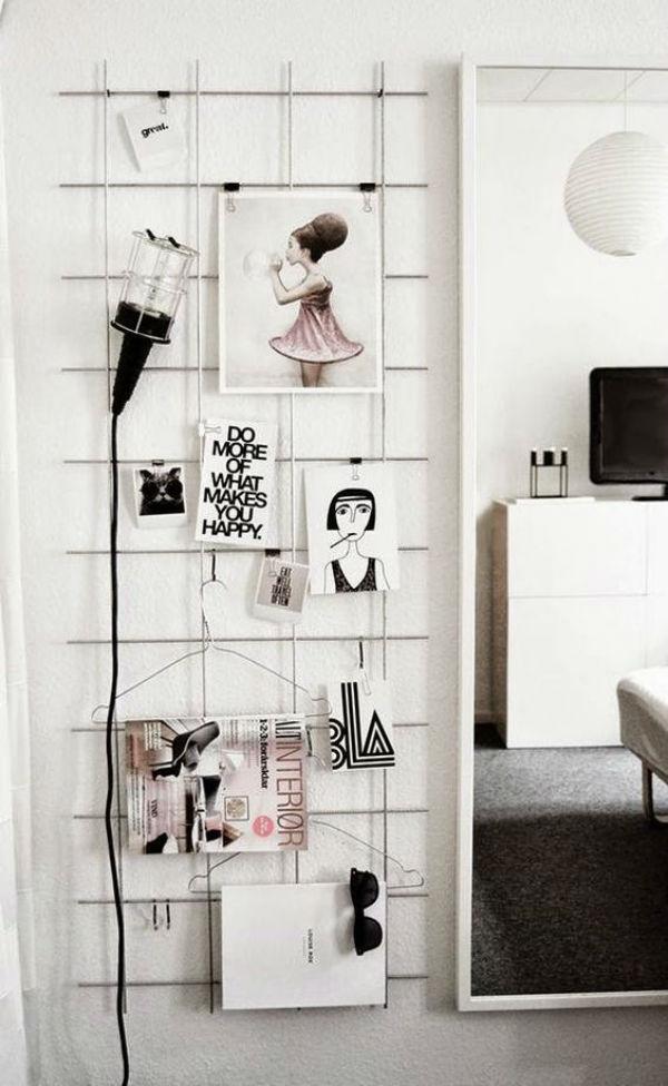 Inspiracion para decorar con mallas metalicas
