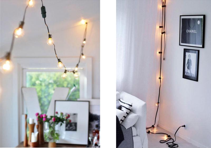 Decorando con Guirnaldas de luces