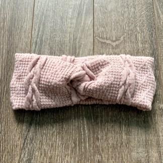 bandeau lainage vieux rose