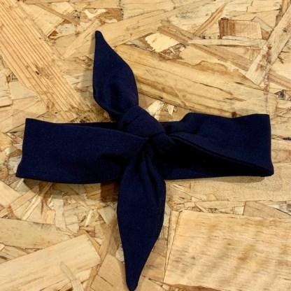lune bandeau noeud bleu foncé