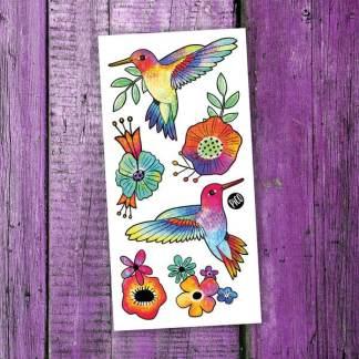 pico tatoo les colibris colorés
