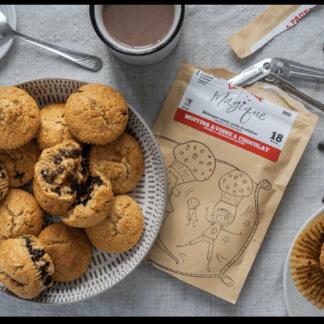 la pause magique mélange muffins avoine chocolat