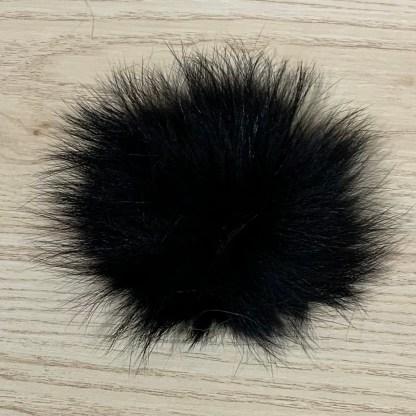 pompon fourrure noire