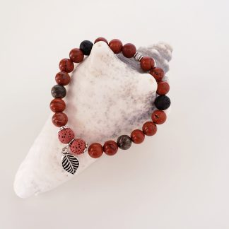 bracelet pierres de lave huile essentielle créations dominique