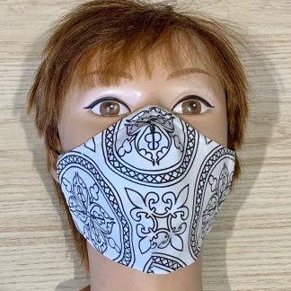 masque noir et blanc xs