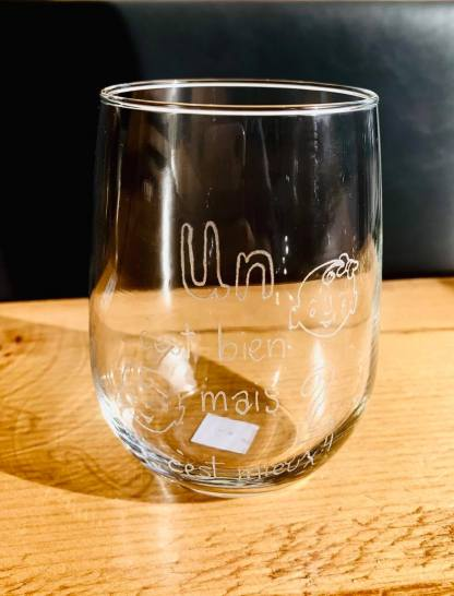 verre gravure cadeau artisan