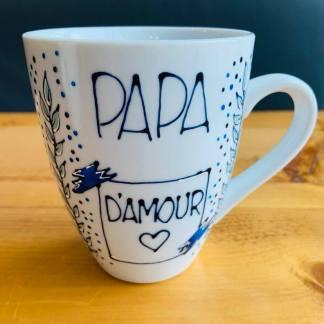 cadeau fête des pères tasse papa d'amour