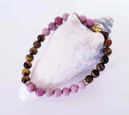 création dominique bracelet cheville rose et brun