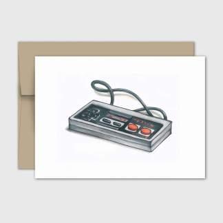 fêtes grenadine carte sans texte manette jeu video vintage