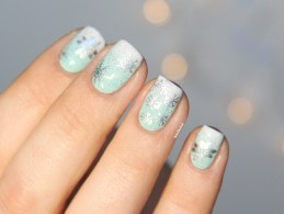 christmasnails_gradientmintsilver (9)