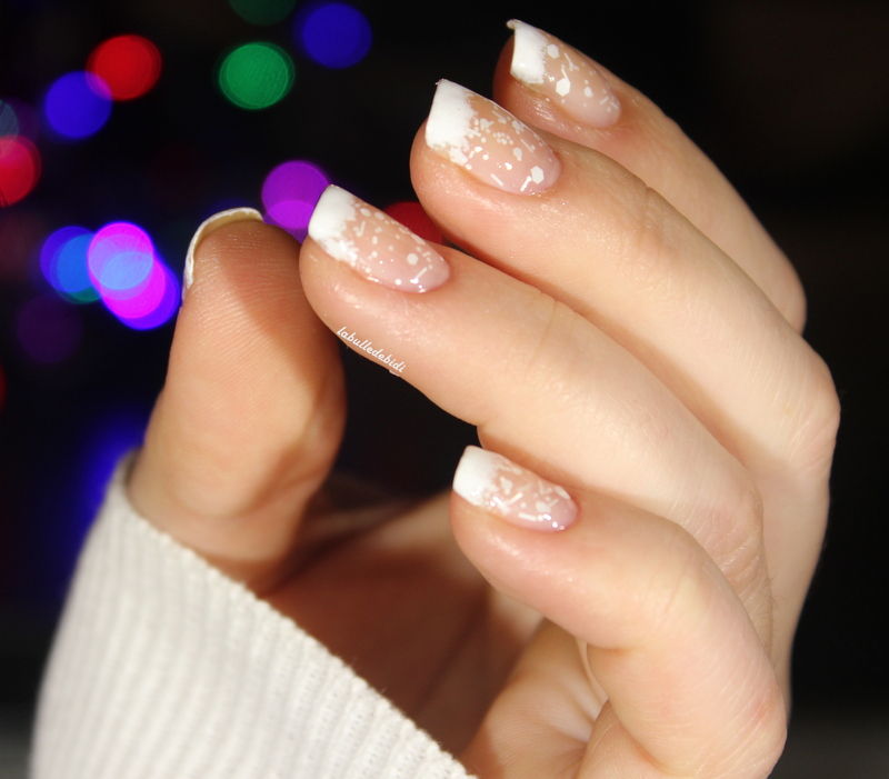 Christmas nails #7: snowy and fluffy