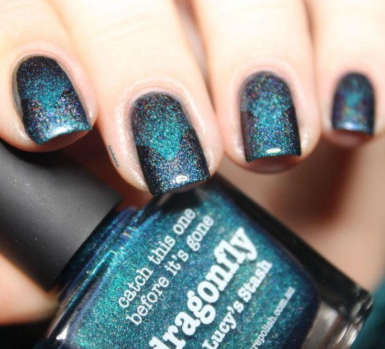 dragonfly-picture polish-scaled gradient-rainbow in space (7)